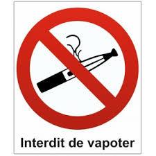 Logo interdiction de vapoter