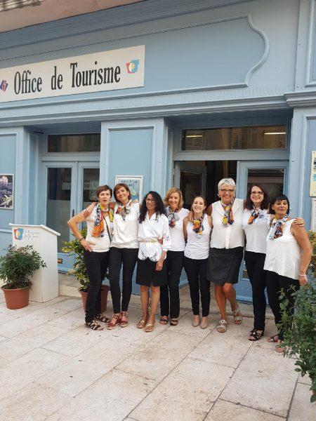 Juin 2017 - Equipe OT Vallauris Golfe-Juan (Alpes-Maritimes) marqué Qualité Tourisme