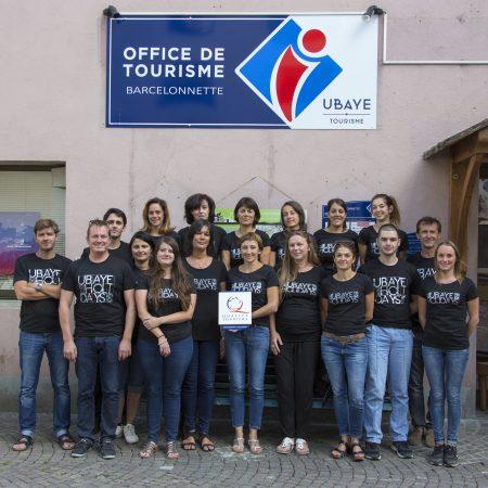 Equipe OTI Ubaye Tourisme marqué Qualité Tourisme 2017
