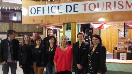La Team de l'OTI Ubaye Tourisme marqué Qualité Tourisme
